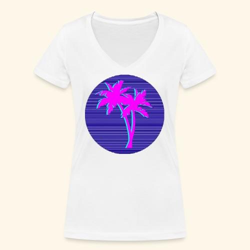 Florida palmtree - T-shirt bio col V Stanley & Stella Femme