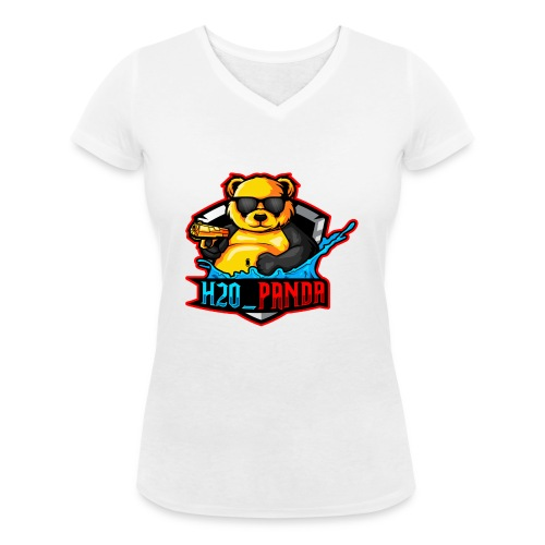 Pandas Loga - Ekologisk T-shirt med V-ringning dam från Stanley & Stella