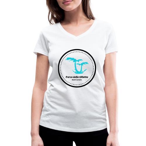 LOGO PARCO DELLE VILLETTE - T-shirt ecologica da donna con scollo a V di Stanley & Stella
