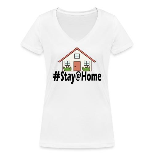 StayHome - Vrouwen bio T-shirt met V-hals van Stanley & Stella