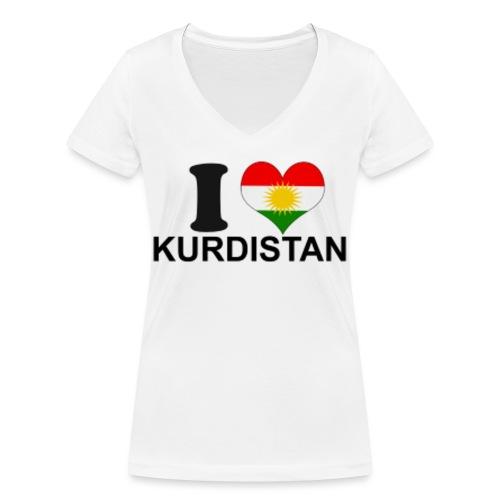 i love kurdistan png - Frauen Bio-T-Shirt mit V-Ausschnitt von Stanley & Stella