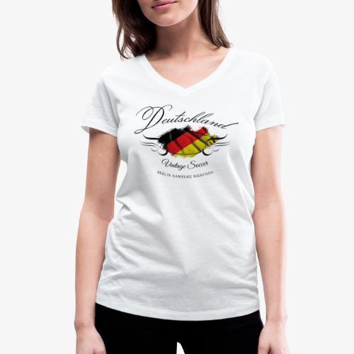 Vintage Deutschland - Frauen Bio-T-Shirt mit V-Ausschnitt von Stanley & Stella