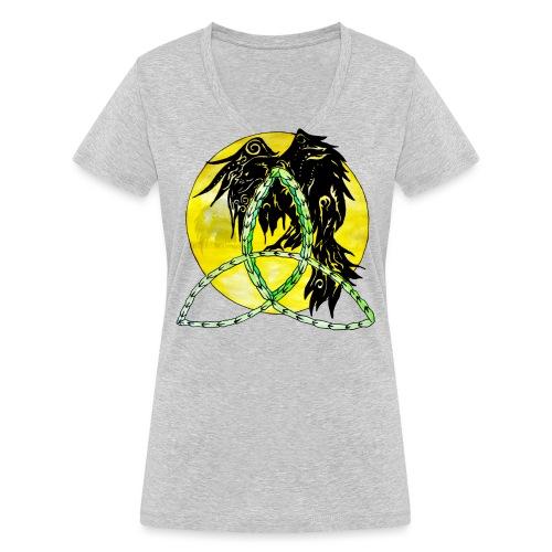tribalrabe2 - Frauen Bio-T-Shirt mit V-Ausschnitt von Stanley & Stella