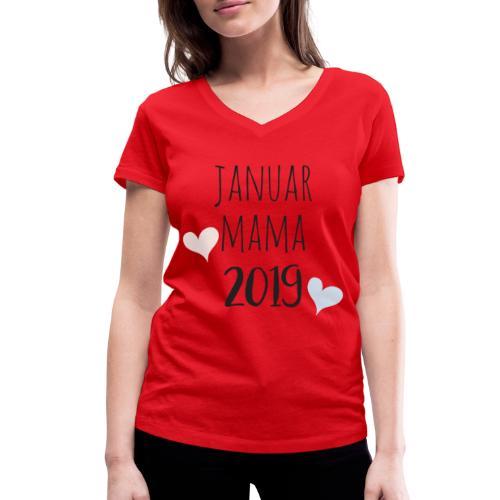 Januar Mama 2019 - Frauen Bio-T-Shirt mit V-Ausschnitt von Stanley & Stella