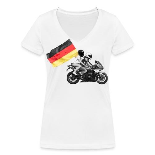 Deutschland test - Frauen Bio-T-Shirt mit V-Ausschnitt von Stanley & Stella