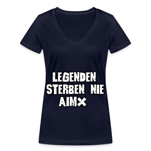 Legenden sterben nie - Frauen Bio-T-Shirt mit V-Ausschnitt von Stanley & Stella