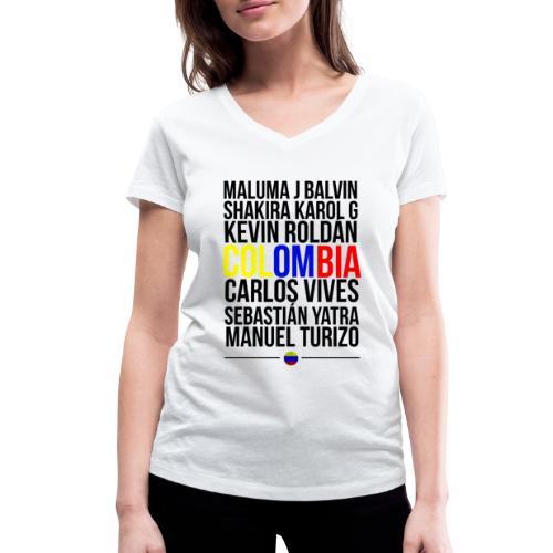 Reggaeton Shirt Kolumbien - Frauen Bio-T-Shirt mit V-Ausschnitt von Stanley & Stella