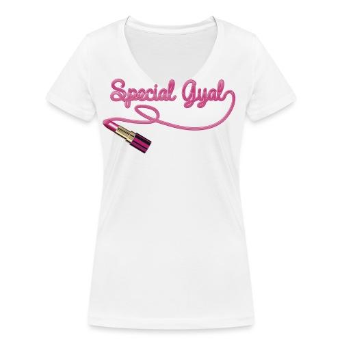 specialgyal logo png - Women's Organic V-Neck T-Shirt by Stanley & Stella