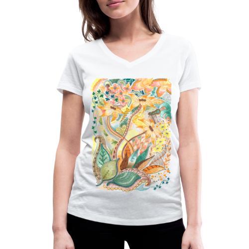 Höststorm - Ekologisk T-shirt med V-ringning dam från Stanley & Stella