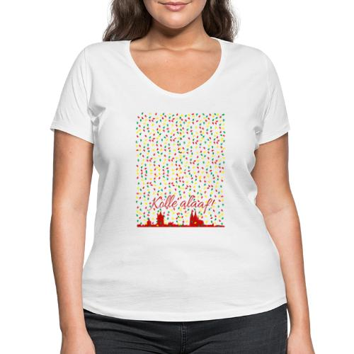Konfettiregen, Kölle alaaf! - Frauen Bio-T-Shirt mit V-Ausschnitt von Stanley & Stella