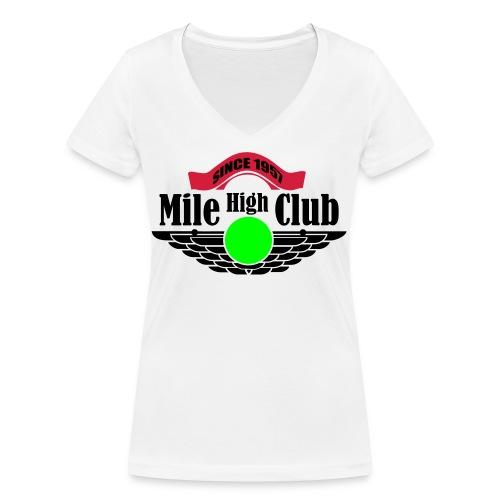 mile high club - Vrouwen bio T-shirt met V-hals van Stanley & Stella