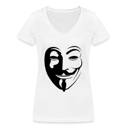 Anonymous Round Face - Stanley & Stellan naisten v-aukkoinen luomu-T-paita