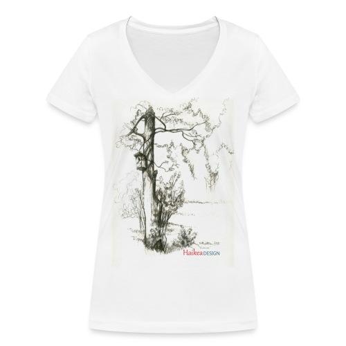 pontto rippen mokilla11 - Stanley & Stellan naisten v-aukkoinen luomu-T-paita