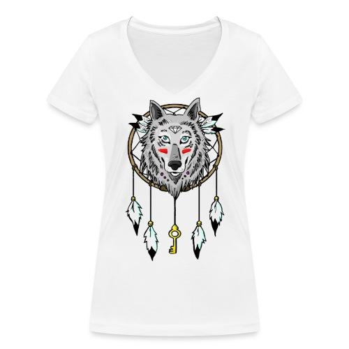 loup - T-shirt bio col V Stanley & Stella Femme