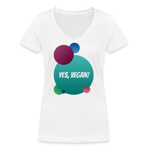 Yes, vegan! - Frauen Bio-T-Shirt mit V-Ausschnitt von Stanley & Stella