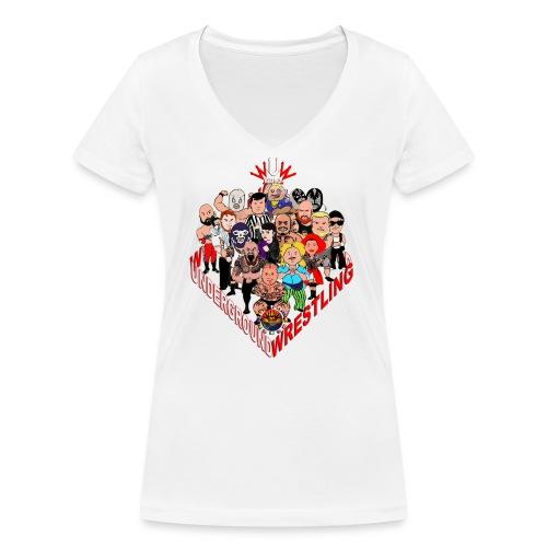 comics-wrestler - Frauen Bio-T-Shirt mit V-Ausschnitt von Stanley & Stella