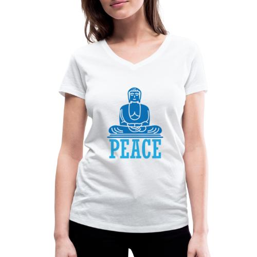 Buddha Meditating. - Women's Organic V-Neck T-Shirt by Stanley & Stella