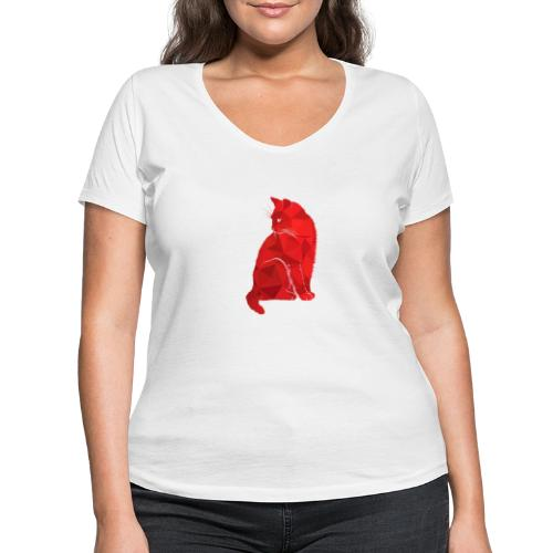 Cat - Frauen Bio-T-Shirt mit V-Ausschnitt von Stanley & Stella