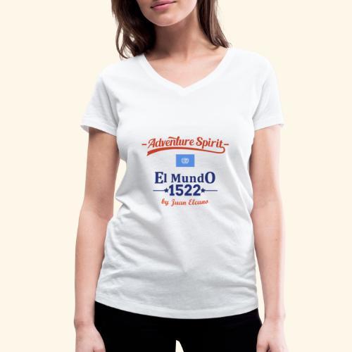 AdventureSpirit First Circumnavigation - Frauen Bio-T-Shirt mit V-Ausschnitt von Stanley & Stella