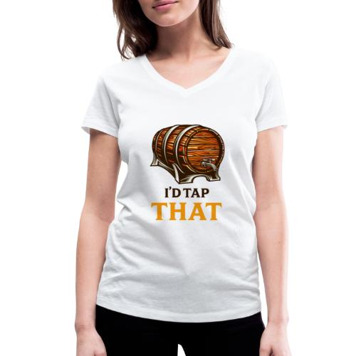 Beer / beer keg fan - gift idea - Women's Organic V-Neck T-Shirt by Stanley & Stella