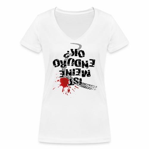 Ist meine Enduro ok? (schwarzer Text) - Women's Organic V-Neck T-Shirt by Stanley & Stella