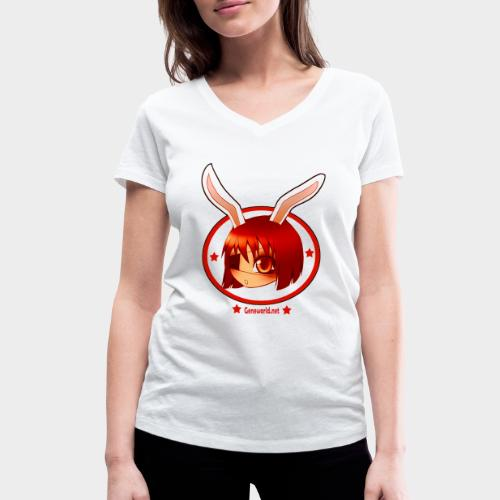 Geneworld - Bunny girl pirate - T-shirt bio col V Stanley & Stella Femme