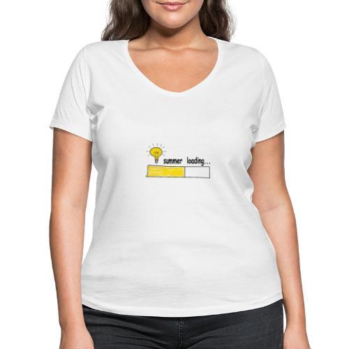 Summer Loading - Frauen Bio-T-Shirt mit V-Ausschnitt von Stanley & Stella