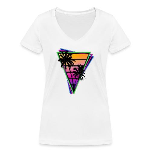 Paridise beach - T-shirt bio col V Stanley & Stella Femme