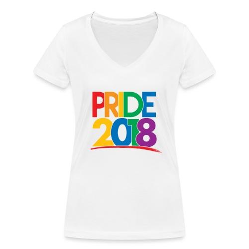Pride 2018 - Women's Organic V-Neck T-Shirt by Stanley & Stella