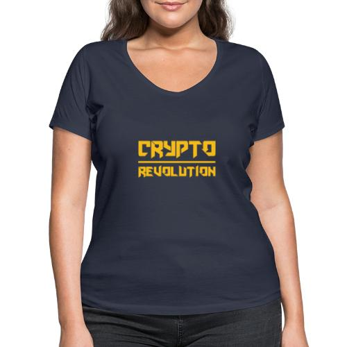 Crypto Revolution III - Women's Organic V-Neck T-Shirt by Stanley & Stella