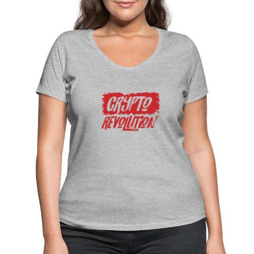 Crypto Revolution - Women's Organic V-Neck T-Shirt by Stanley & Stella