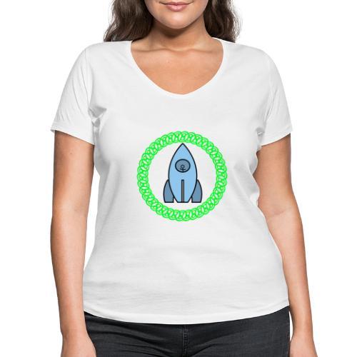 Raumschiff auf dem Weg ins Weltall - Frauen Bio-T-Shirt mit V-Ausschnitt von Stanley & Stella