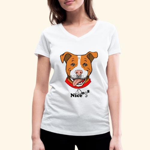pitbull2 - T-shirt ecologica da donna con scollo a V di Stanley & Stella