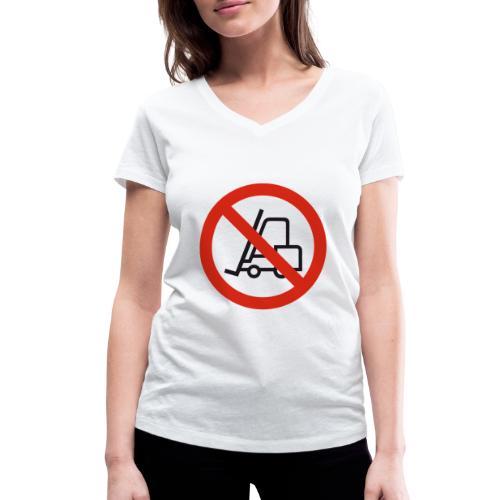 Stapler Crew Stagehand - Frauen Bio-T-Shirt mit V-Ausschnitt von Stanley & Stella