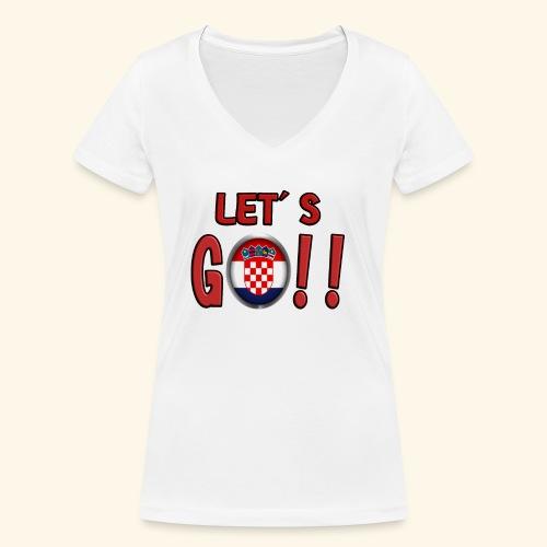 Go Croatia - T-shirt ecologica da donna con scollo a V di Stanley & Stella