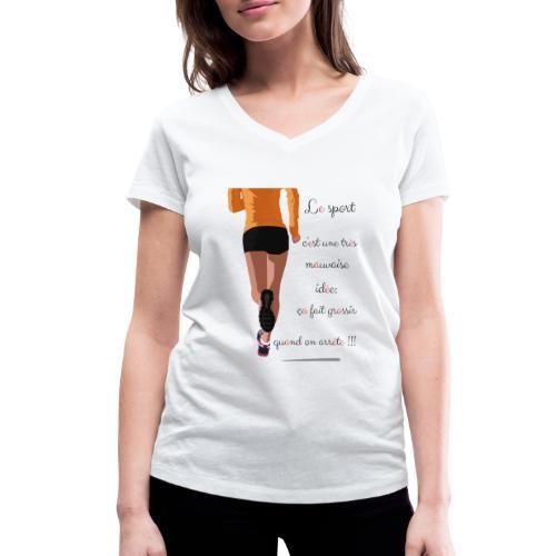 Sport et le régime - T-shirt bio col V Stanley & Stella Femme