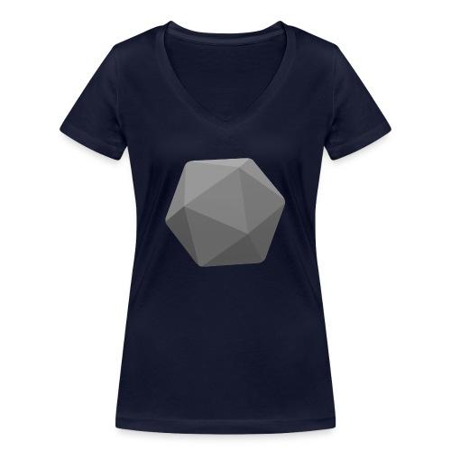 Grey d20 - D&D Dungeons and dragons dnd - Stanley & Stellan naisten v-aukkoinen luomu-T-paita