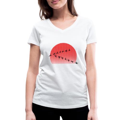 Dots Sonnenuntergang - Frauen Bio-T-Shirt mit V-Ausschnitt von Stanley & Stella