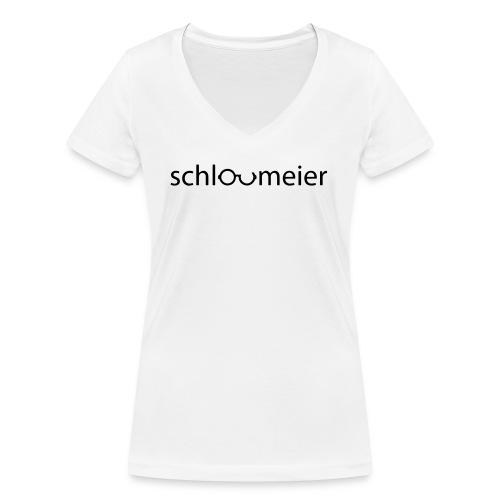 schlaumeier - SW - Frauen Bio-T-Shirt mit V-Ausschnitt von Stanley & Stella