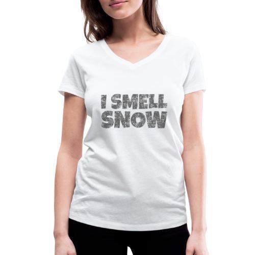 I Smell Snow (Dunkelgrau) Schnee, Wintersport, Ski - Frauen Bio-T-Shirt mit V-Ausschnitt von Stanley & Stella
