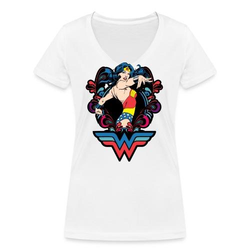 Strong - Frauen Bio-T-Shirt mit V-Ausschnitt von Stanley & Stella