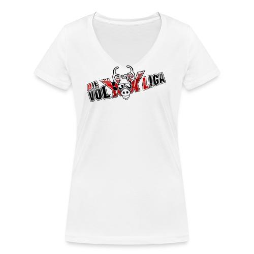 volxxlogos - Frauen Bio-T-Shirt mit V-Ausschnitt von Stanley & Stella