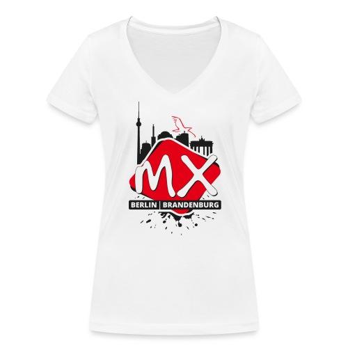 mxbb - Frauen Bio-T-Shirt mit V-Ausschnitt von Stanley & Stella