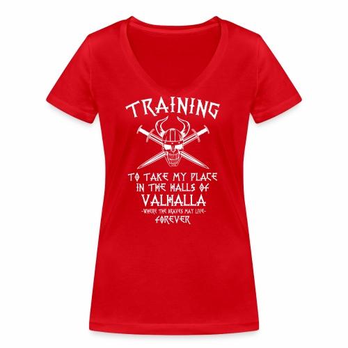 training for Valhalla - Camiseta ecológica mujer con cuello de pico de Stanley & Stella