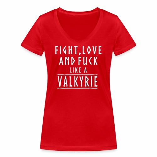 Like a valkyrie - Camiseta ecológica mujer con cuello de pico de Stanley & Stella