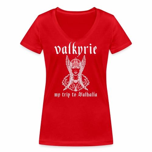 Valkyrie to Valhalla - Camiseta ecológica mujer con cuello de pico de Stanley & Stella