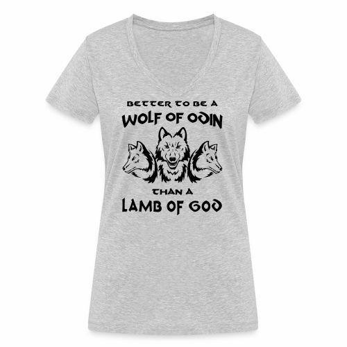 Wolf of Odin - Camiseta ecológica mujer con cuello de pico de Stanley & Stella