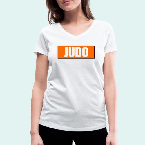 Judo Orange 5. Kyu - Frauen Bio-T-Shirt mit V-Ausschnitt von Stanley & Stella