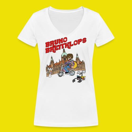 Mofa_30cm_Fertig2-01 - Frauen Bio-T-Shirt mit V-Ausschnitt von Stanley & Stella