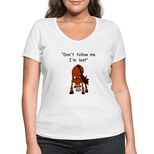 lost - Frauen Bio-T-Shirt mit V-Ausschnitt von Stanley & Stella